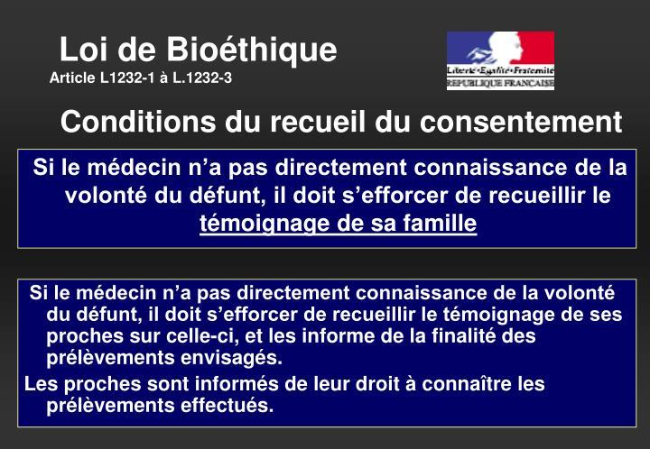 Loi de Bioéthique