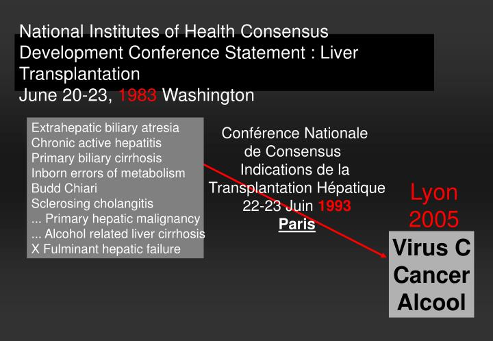 National Institutes of Health Consensus Development Conference Statement : Liver Transplantation