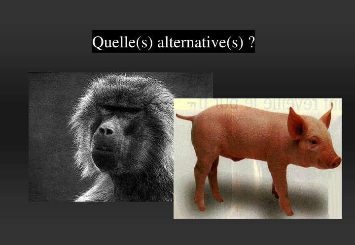 Quelle(s) alternative(s) ?