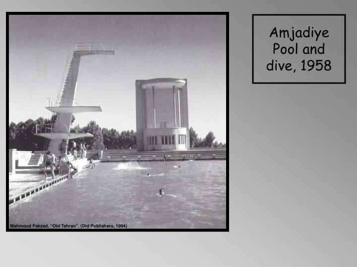 Amjadiye Pool and dive, 1958