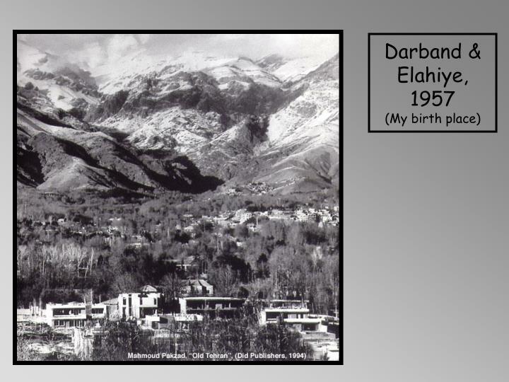Darband & Elahiye, 1957