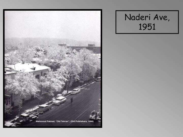 Naderi Ave, 1951