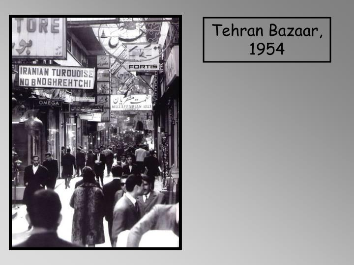 Tehran Bazaar, 1954
