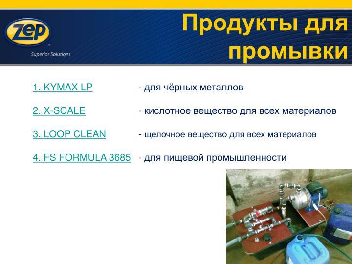 Продукты для промывки
