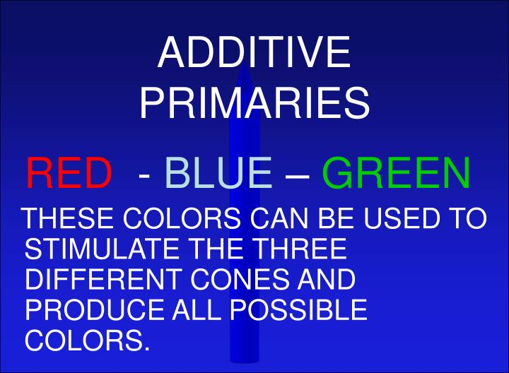 ADDITIVE PRIMARIES