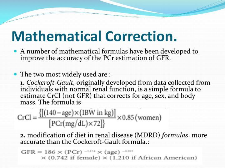 Mathematical Correction.