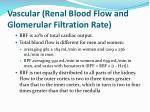 vascular renal blood flow and glomerular filtration rate1