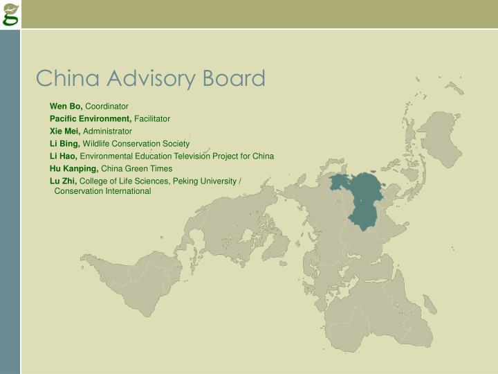 China Advisory Board