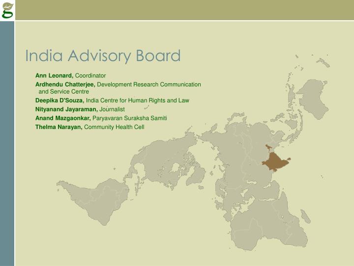 India Advisory Board