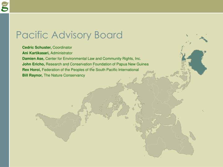 Pacific Advisory Board