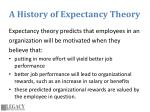 a history of expectancy theory