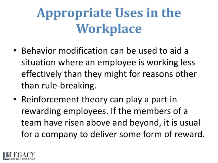 Appropriate Uses in the Workplace