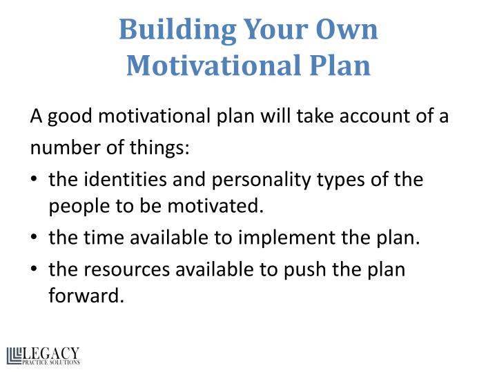 Building Your Own Motivational Plan