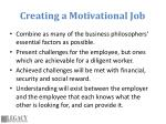 creating a motivational job