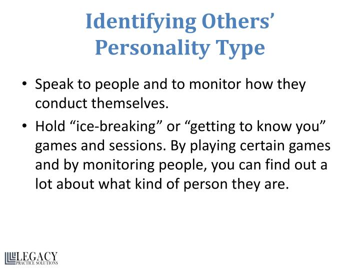 Identifying Others'