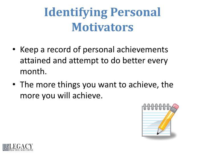 Identifying Personal Motivators