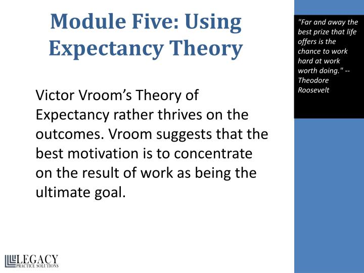 Module Five: Using Expectancy Theory