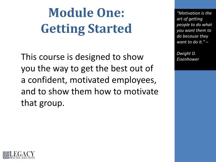 Module One: