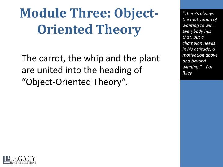 Module Three: Object-Oriented Theory