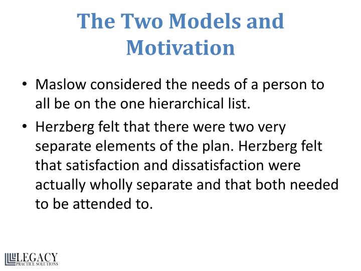 The Two Models and Motivation
