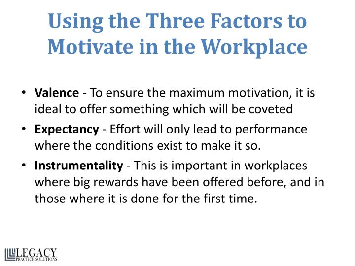 Using the Three Factors to Motivate in the Workplace