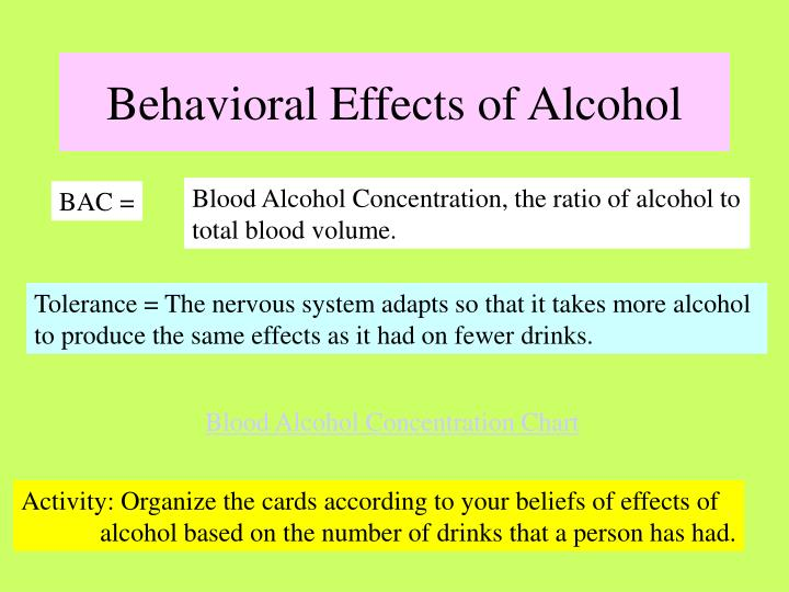 Behavioral Effects of Alcohol