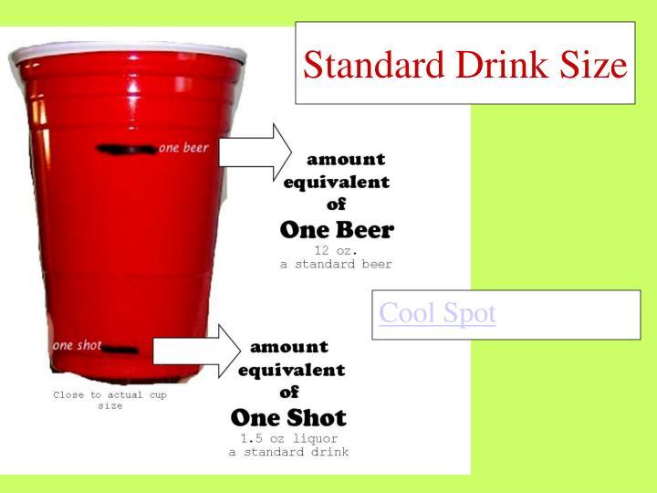 Standard Drink Size