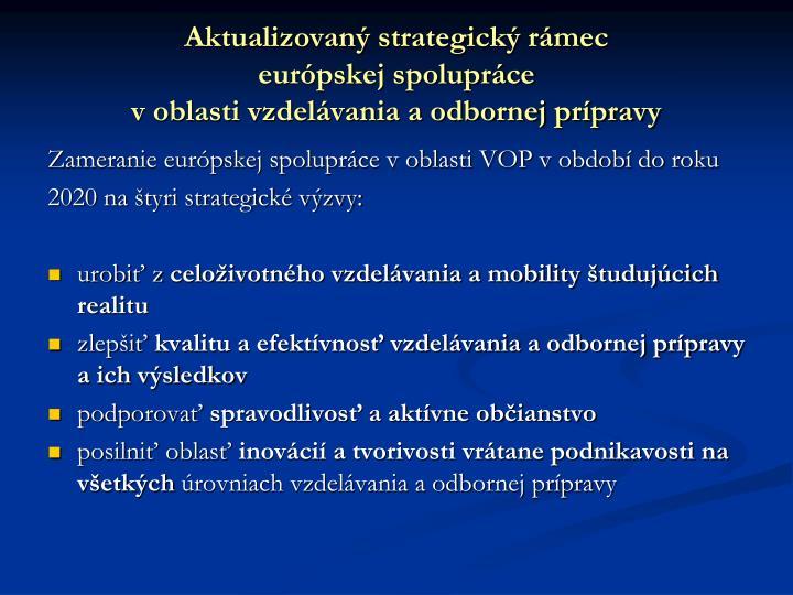 Aktualizovaný strategický rámec