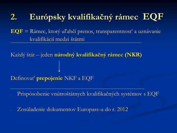 Európsky kvalifikačný rámec
