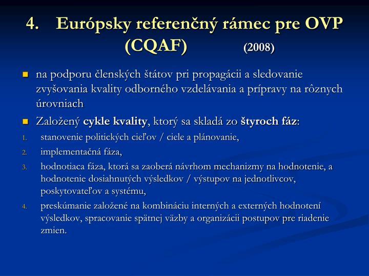 Európsky referenčný rámec pre OVP