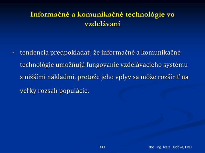 Informačné a komunikačné technológie vo vzdelávaní