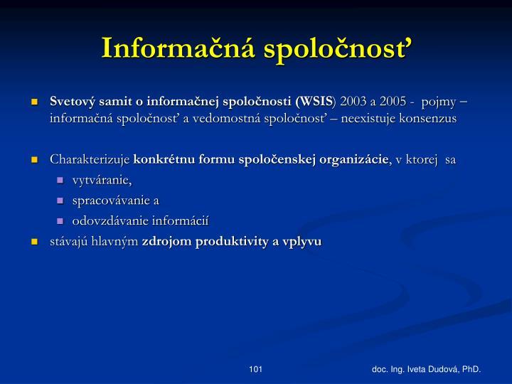 Informačná spoločnosť