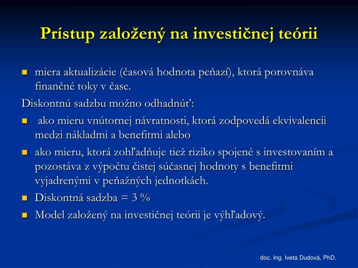 Prístup založený na investičnej teórii