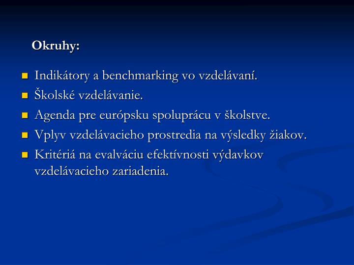 Okruhy: