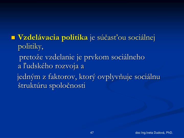 Vzdelávacia politika