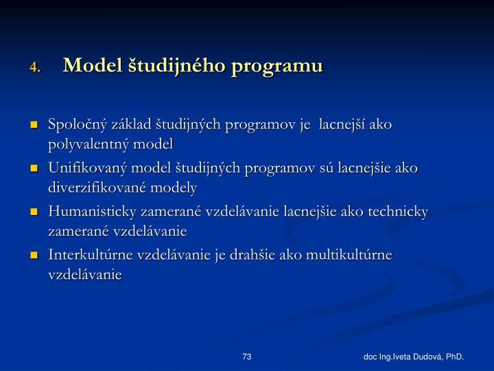 Model študijného programu