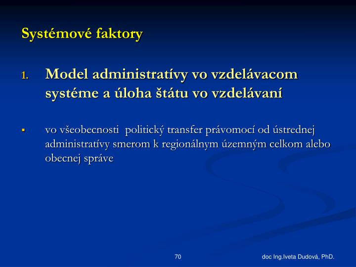 Systémové faktory