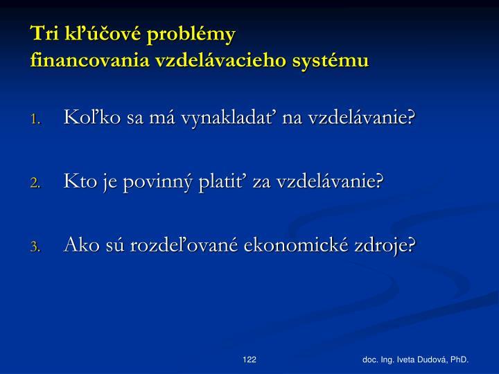 Tri kľúčové problémy