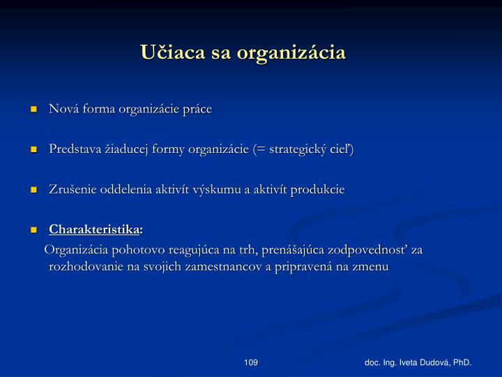 Učiaca sa organizácia