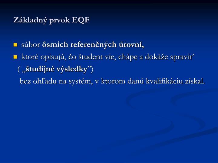 Základný prvok EQF