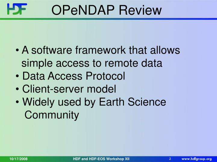 OPeNDAP Review
