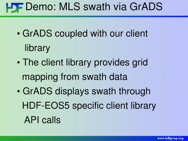 Demo: MLS swath via GrADS
