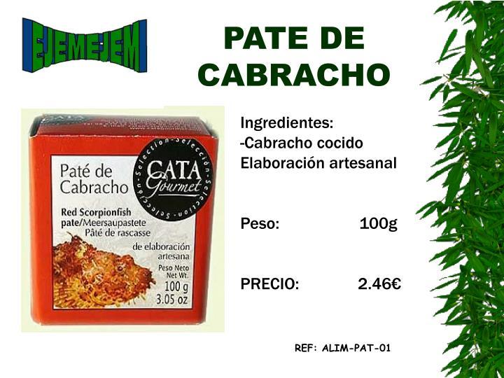 PATE DE CABRACHO