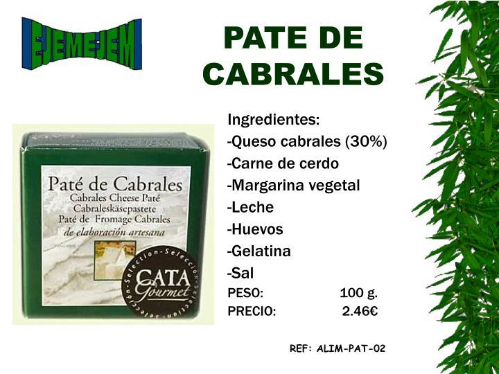 PATE DE CABRALES
