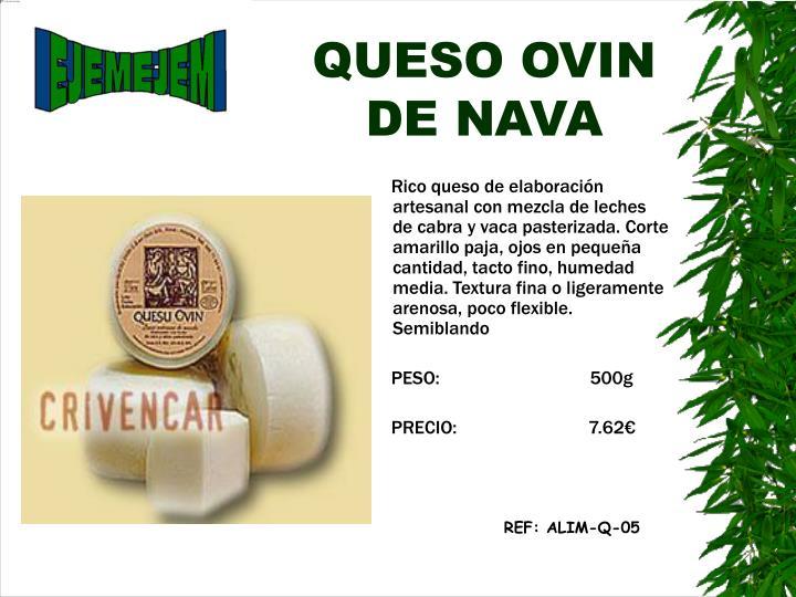 QUESO OVIN DE NAVA