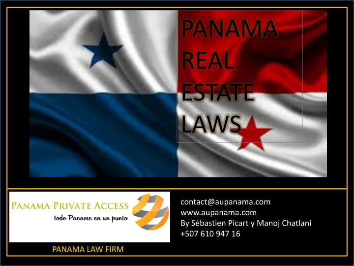 PANAMA REAL ESTATE LAWS