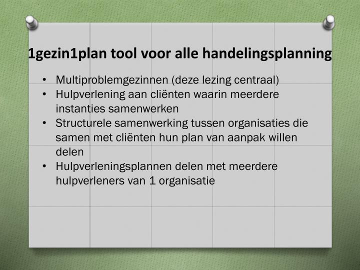 1gezin1plan tool voor alle handelingsplanning
