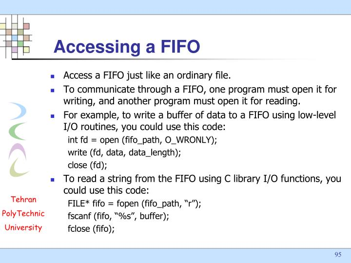 Accessing a FIFO