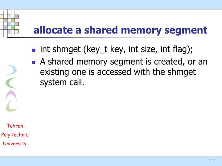 allocate a shared memory segment
