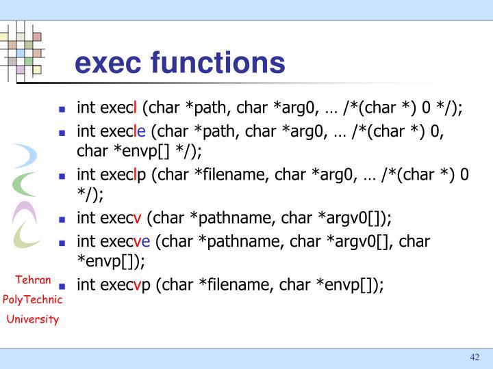 exec functions